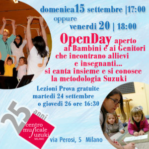 OpenDay settembre 2019